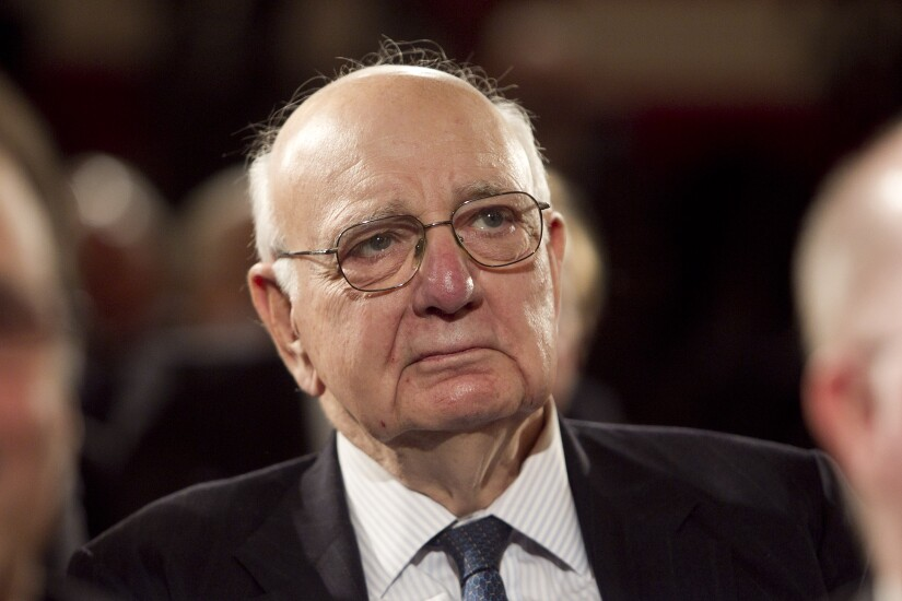 Paul Volcker, former Federal Reserve chair