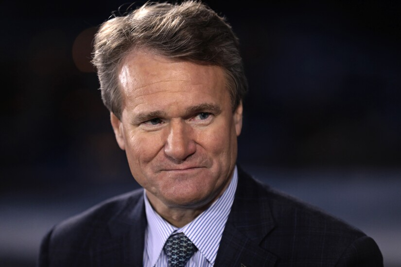 Brian Moynihan, chief executive officer of Bank of America.