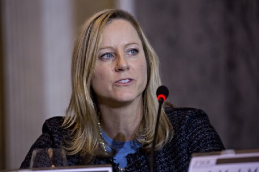 """The development of the rule will be """"a big issue"""" for the CFPB """"in the coming year and beyond that,"""" said director Kathy Kraninger."""