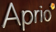 Aprio logo on wall
