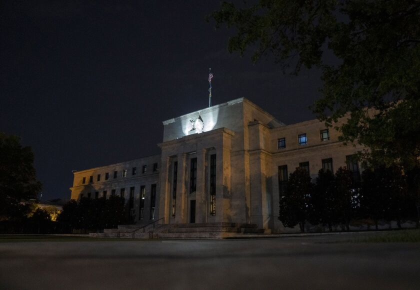 The Federal Reserve has bought 16 different corporate bond ETFs, with purchases peaking in June at $4.2 billion, according to data from Bloomberg Intelligence.