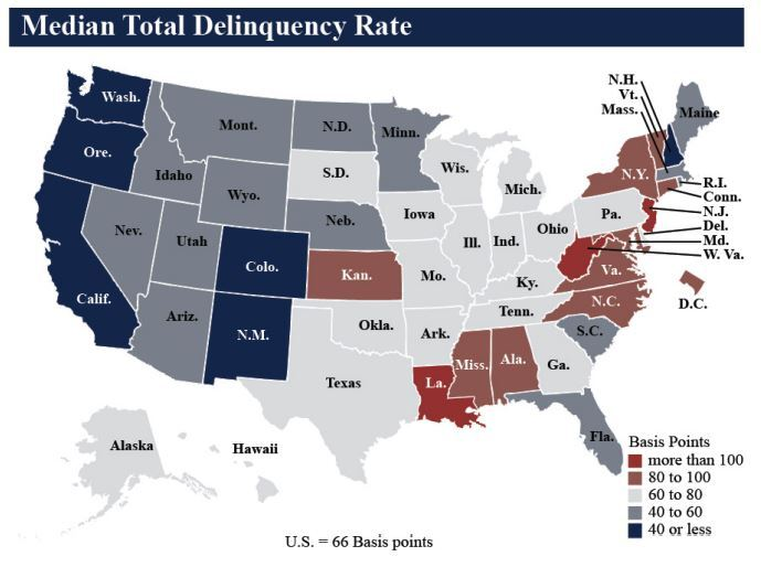 NCUA Median Total Delinquency Rate Q4 2019 - CUJ 032520.JPG