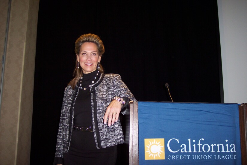 Sundie Seefried, the president and CEO of Partner Colorado Credit Union, during the California and Nevada Credit Union Leagues' 2017 annual meeting