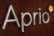 Aprio logo on wall
