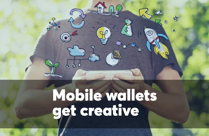 Mobile wallets get creative