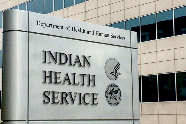 Signage displaying Indian Health Service