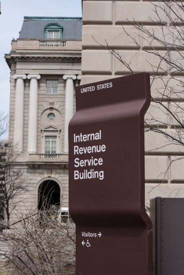 IRS building entrance