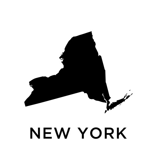 New York map vector design template