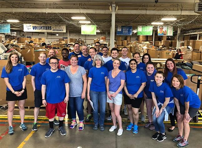 2018 Best Firms -- Cassady Schiller volunteer