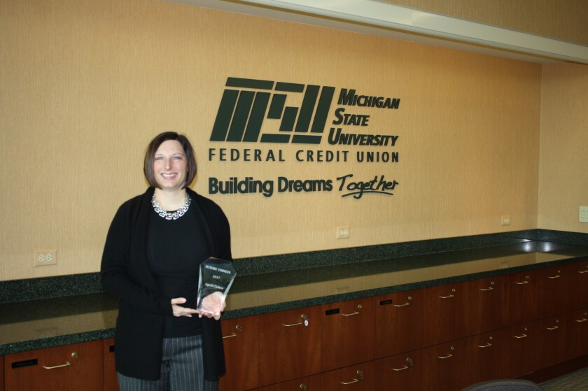April Clobes, president and CEO of Michigan State University Federal Credit Union