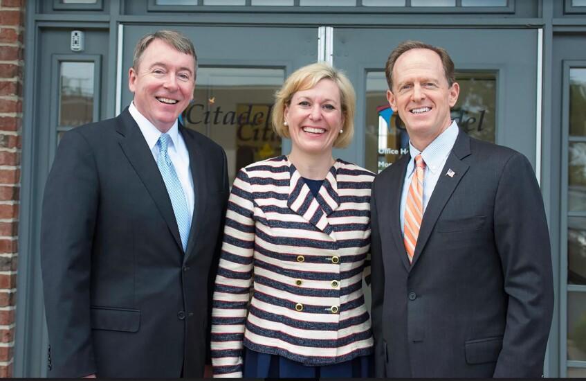 CEO Partick Conway, VP Gov. Relations Christina Mihalik and Senator Pat Toomey.