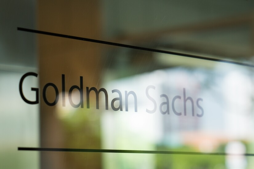 Signage for Goldman Sachs Group Inc. is displayed at the One Raffles Link building, which houses one of the Goldman Sachs (Singapore) Pte offices, in Singapore, on Saturday, Dec. 22, 2018. Singapore has expanded a criminal probe into fund flows linked to scandal-plagued 1MDB to include Goldman Sachs Group, which helped raise money for the entity, people with knowledge of the matter said. Photographer: Nicky Loh/Bloomberg