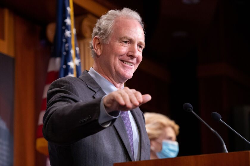 """I wish there was a broader recognition that getting funds into the hands tenants to pay their landlord on the residential side and also on the commercial side is something that would be very important at this time,"" Sen. Chris Van Hollen, D-Md., said."
