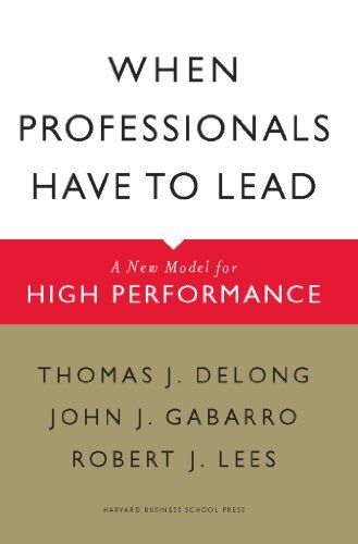 Book cover - When Professionals Have to Lead