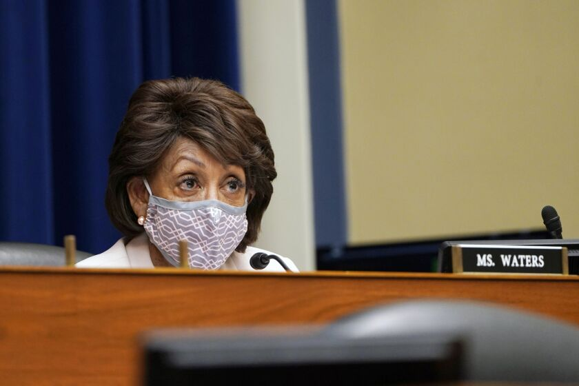 """""""Many debt collectors harass consumers with frequent phone calls, make threats and provide misleading information to consumers,"""" said House Financial Services Committee Chairwoman Maxine Waters, D-Calif."""