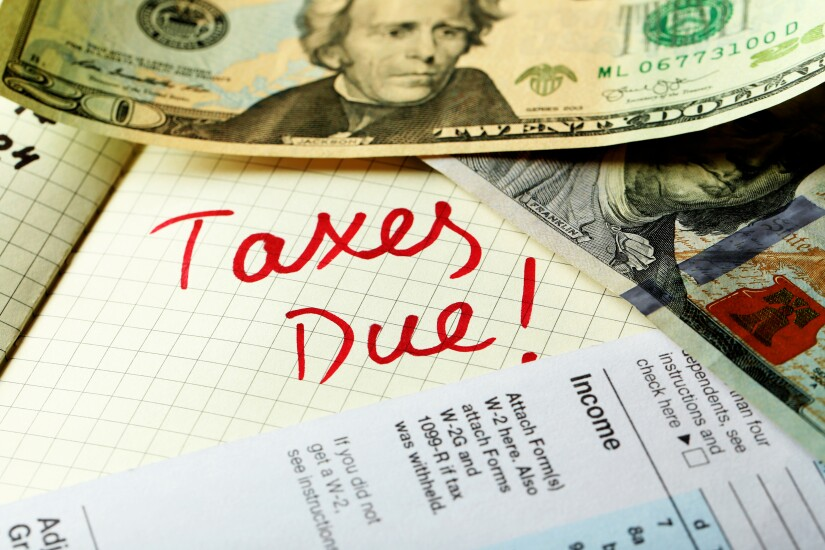 Taxes-due-reminder-with-money