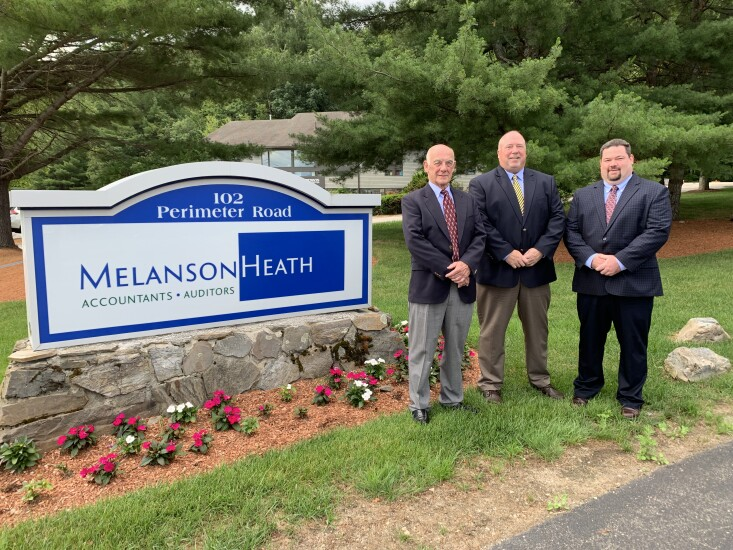 From left to right: Paul E. Seelye, CPA (formally of Seelye & Schulz PA CPA's), Scott Toothaker, CPA (managing principal of Melanson Heath) and Anthony Engaldo, CPA (formally of Seelye & Schulz PA CPA's)