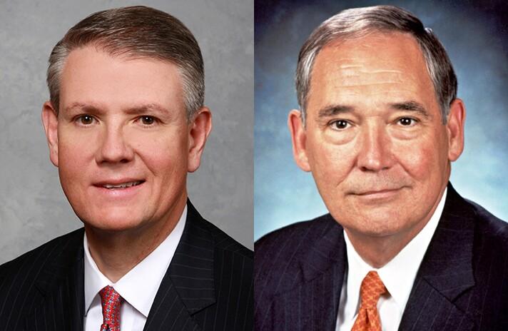 Curt Farmer (left) and Ralph Babb of Comerica.
