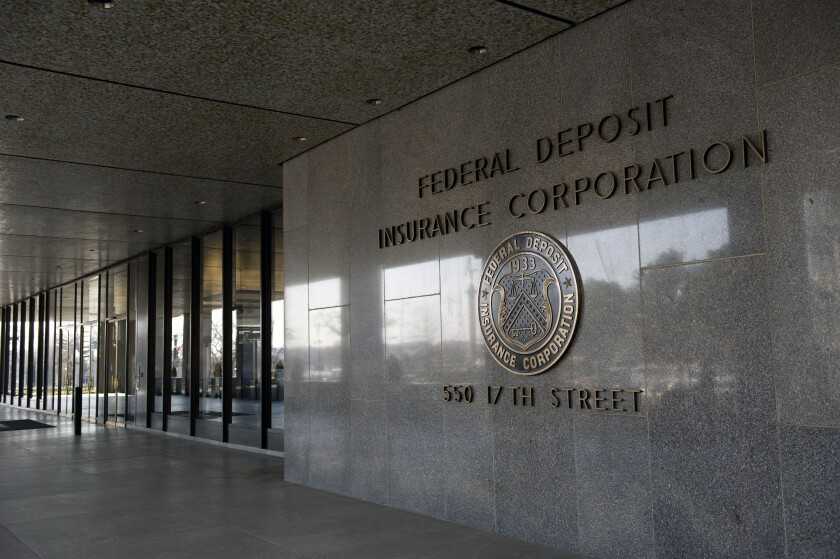 """""""The FDIC's action today will ensure that banks will not be subject to significantly higher deposit insurance assessments for participating in these programs,"""" the FDIC said."""