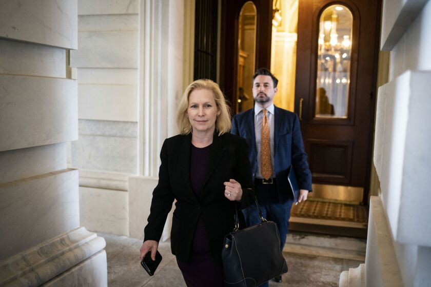 """""""Let's put a bank in every post office,"""" tweeted Sen. Kirsten Gillibrand, D-N.Y."""