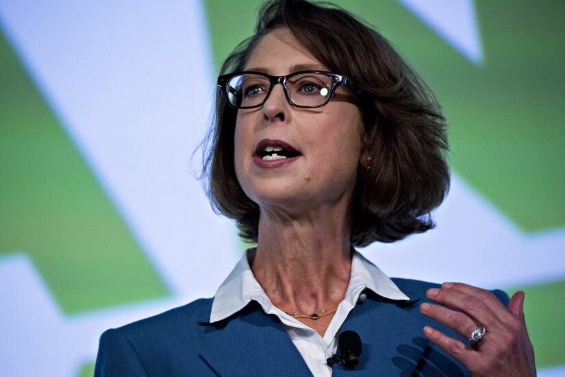 Fidelity Investments CEO Abby Johnson says she wants to stem workplace harassment at her firm.