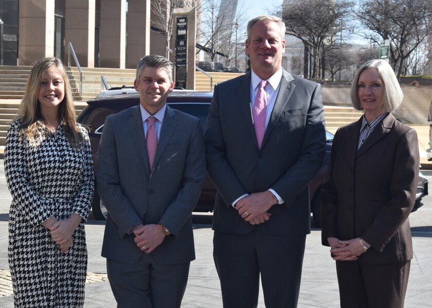 The Market Street Group team joined RBC's growing St. Louis branch office. From left to right: Amy Hustedde, Robert Funke, Peter Sadlo, and DeAnne Finn.
