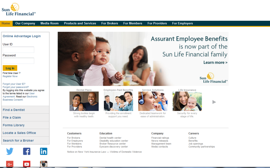 assurant sun life website