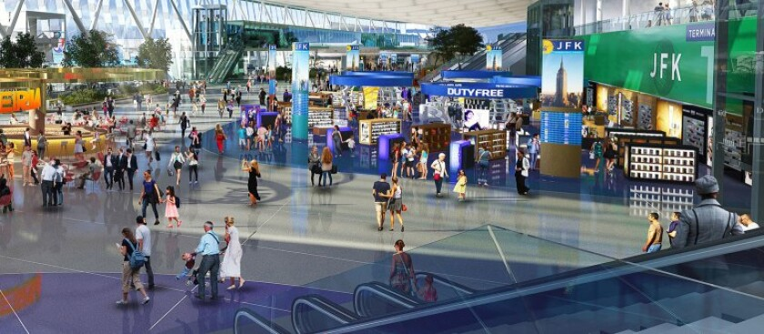A rendering for the planned new main terminal at John F. Kennedy International Airport scheduled to be completed in 2025.