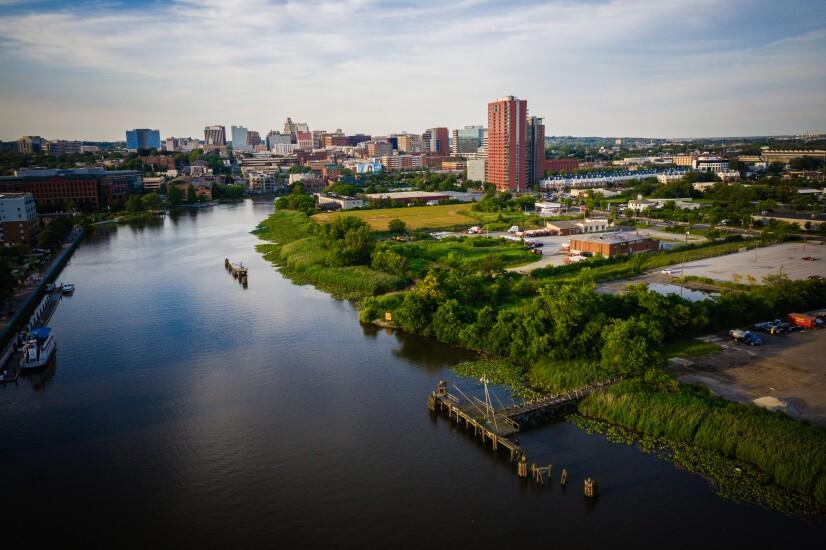 Aerial of Wilmington Delaware