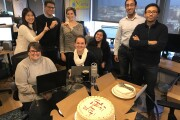 Team celebration after announcing our successful $110 M dollar B-round..jpg
