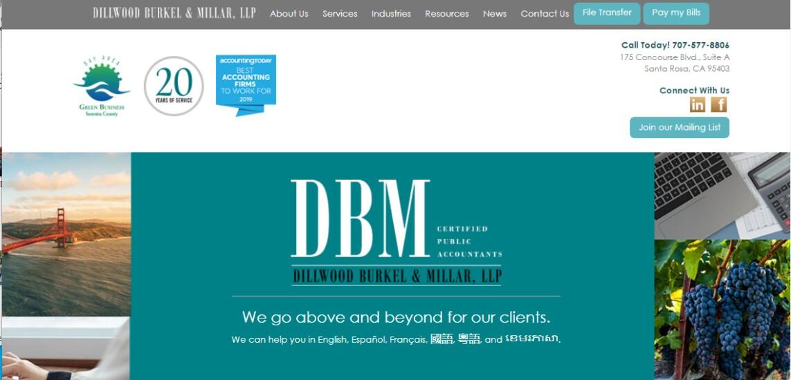 Best Firms 2020 - Dillwood Burkel & Millar