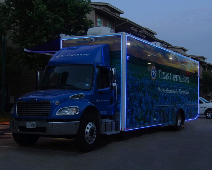 Texas Capital Bank in Dallas deployed its community center vehicle