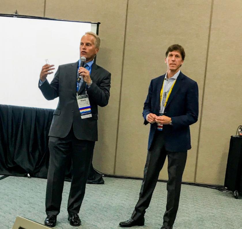 Financial advisor Ward Keever and LPL CEO Dan Arnold