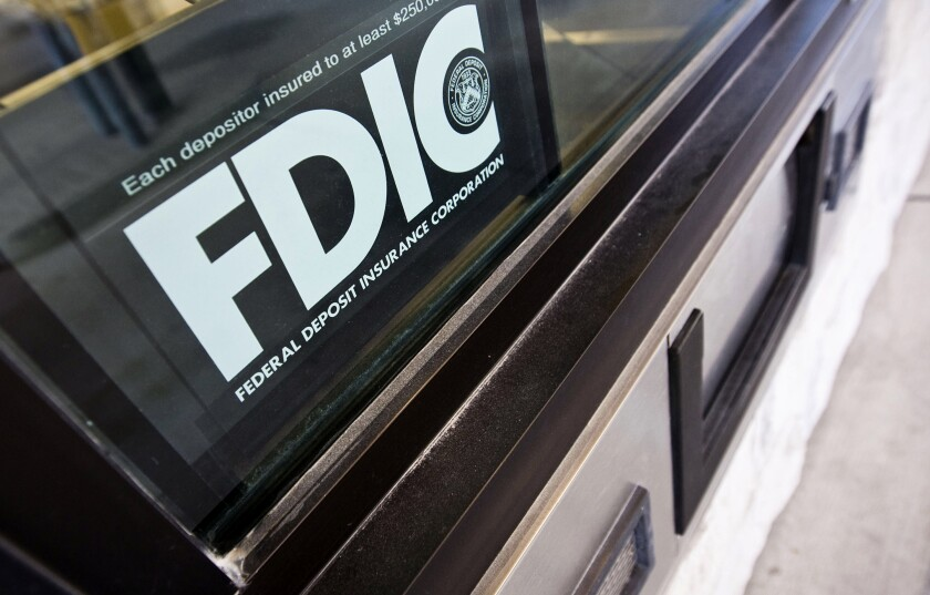 Since the Federal Deposit Insurance Act was signed in 1950, insured depository institutions have been required to display the FDIC's logo physically wherever deposits are taken at a bank's branches.