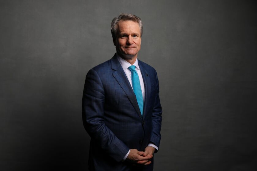 Brian Moynihan, CEO of Bank of America, poses for a photograph Jan. 21, 2020