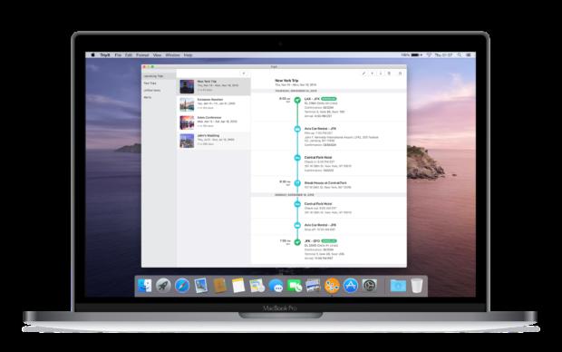 Concur TripIt app for Mac