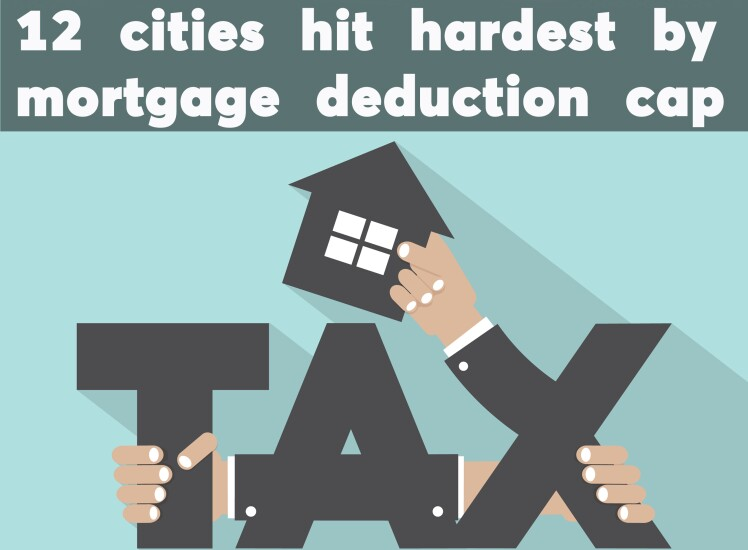 12 markets hit hardest by slashing the mortgage deduction