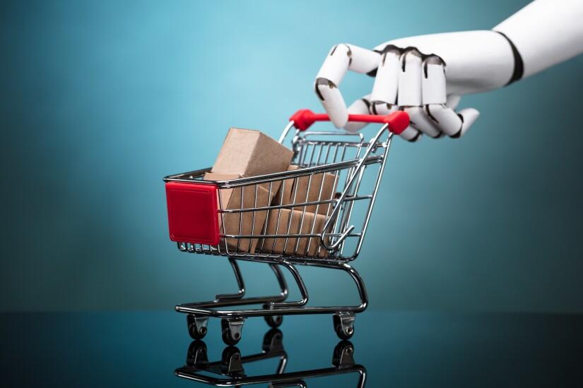 Robot shopping cart