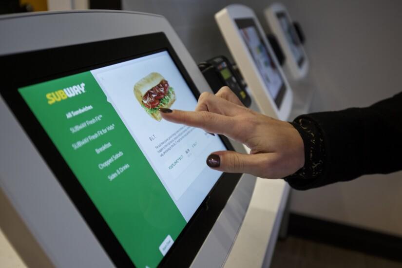Subway ordering kiosk