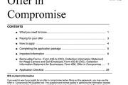 Form 656 Offer in Compromise booklet