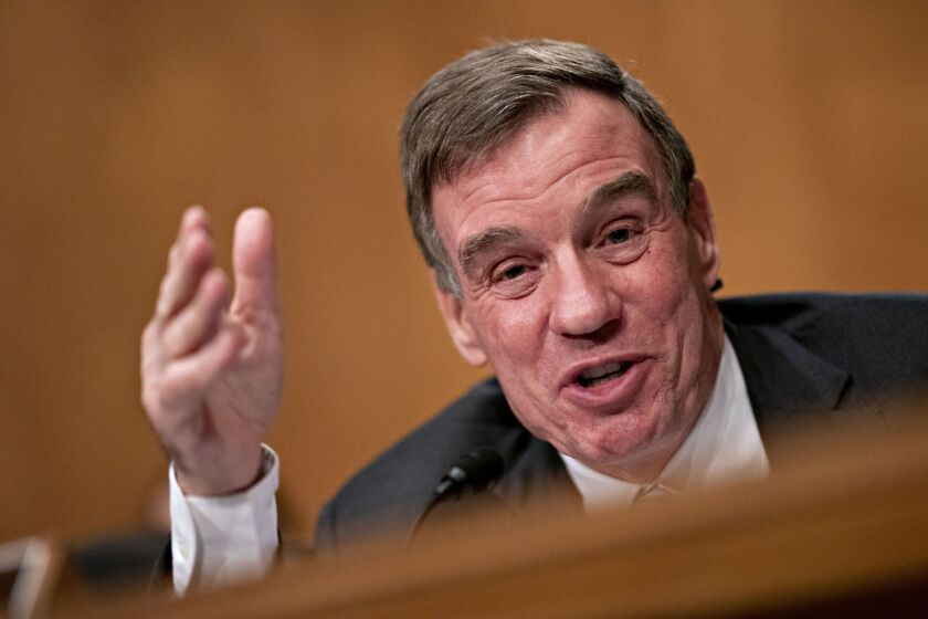 """We've created this cliff effect"" on who is eligible, said Sen. Mark Warner, D-Va., adding that he shares concerns of others about how long it is taking the Fed to launch the Main Street program."