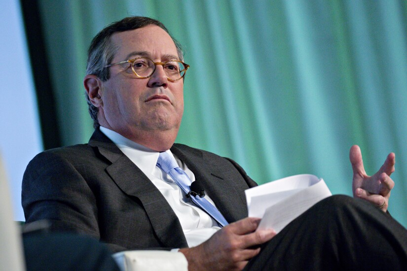 Warren Stephens, chairman, president and chief executive officer of Stephens, speaks during an interview at the Securities Industry and Financial Markets Association annual meeting in Washington, D.C.