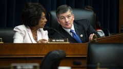 Rep. Maxine Waters, ranking member of the House Financial Services Committee, and Chairman Jeb Hensarling.