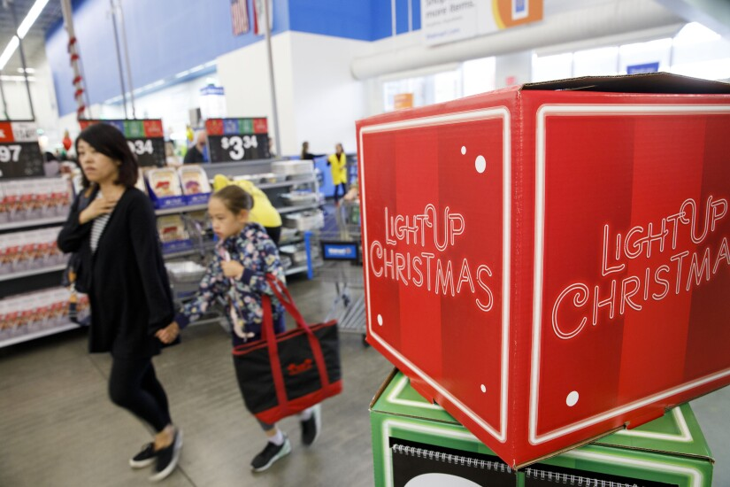 Walmart Christmas display