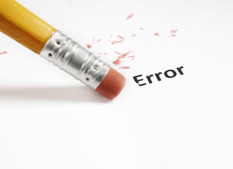 Erase-error