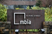 An MBIA sign is positioned outside the MBIA Inc. headquarters in Armonk, New York, U.S., on Monday, Dec. 10, 2007