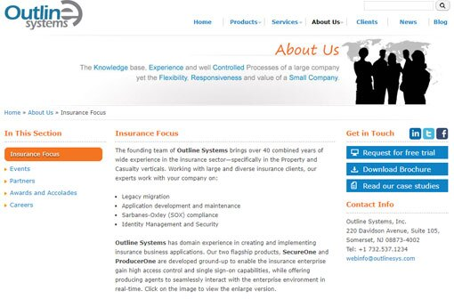 Outline Systems home page