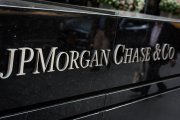 Sign displaying the JPMorgan Chase & Co. name.