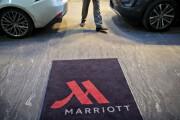 Marriott hotel entrance