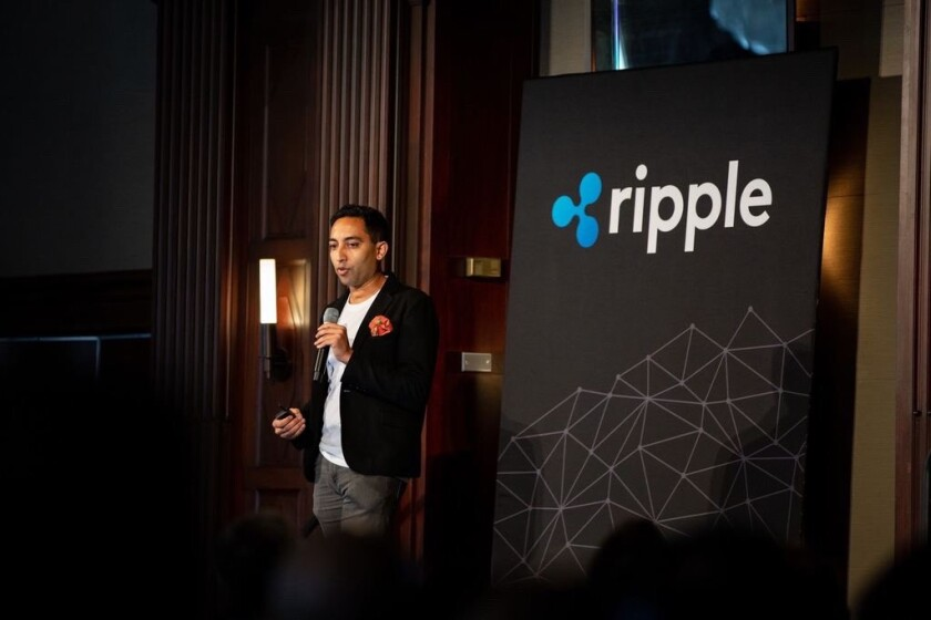 Asheesh Birla, senior vice president of product management and corporate development at Ripple